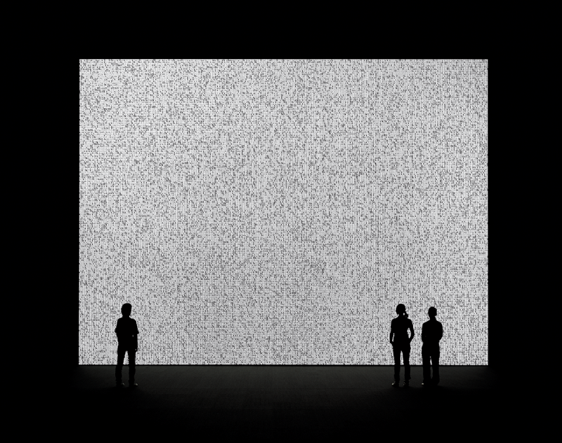 Photo of Ryoji Ikeda, data.tron, 2007