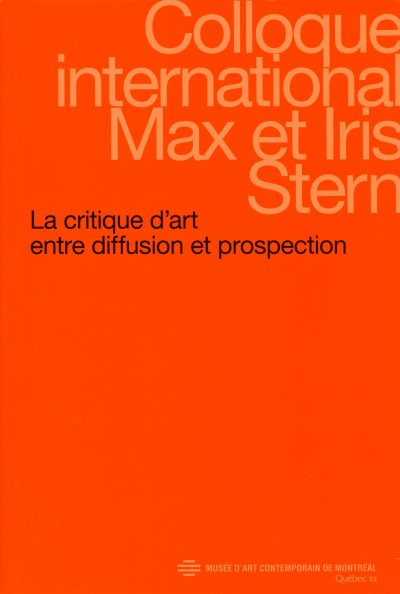 La critique d'art entre diffusion et prospection