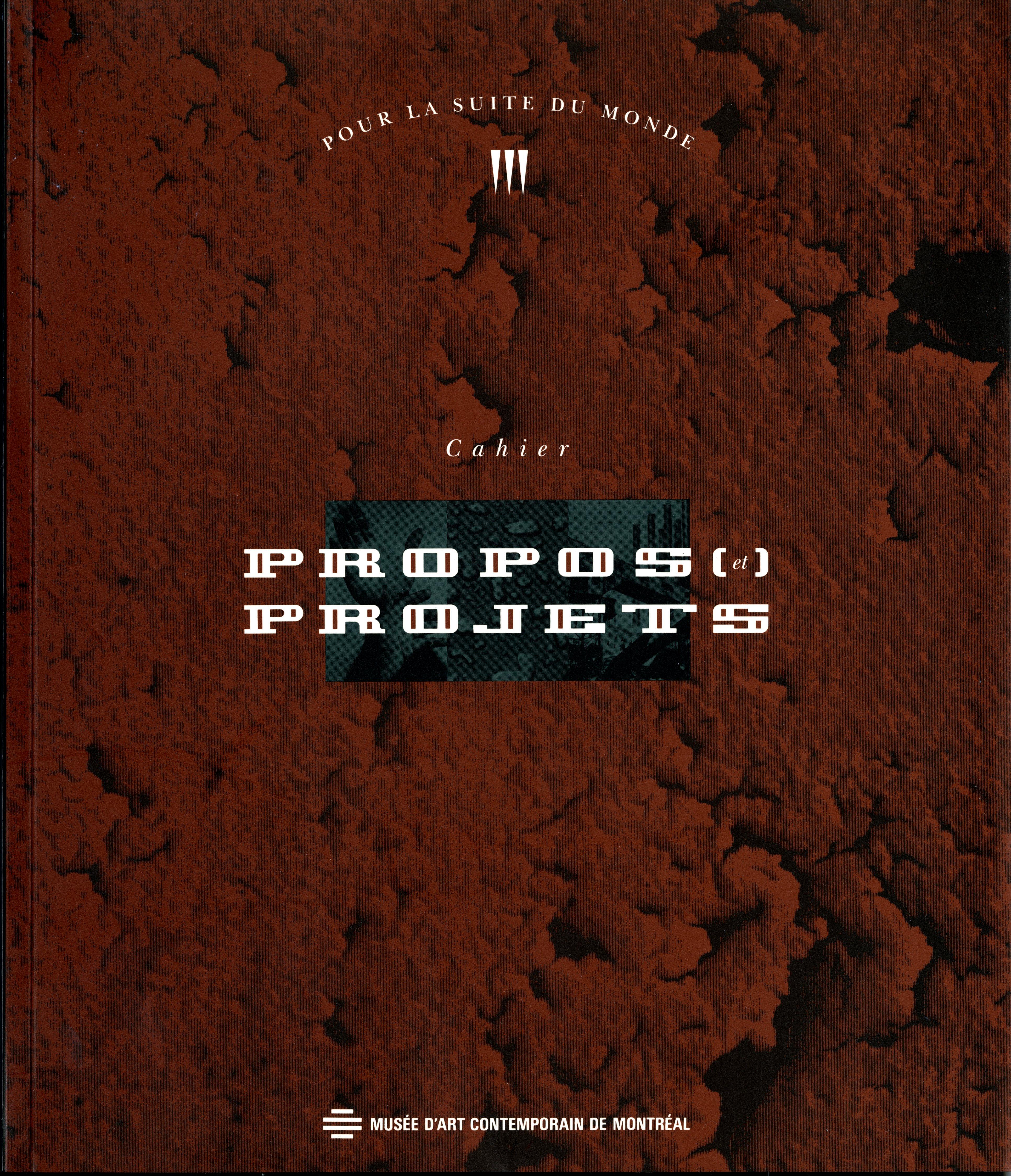 cahier : propos et projets