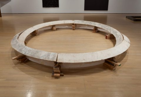 Bruce Nauman, Smoke Rings: Two Concentric Tunnels, Skewed and Noncommunicating, 1980