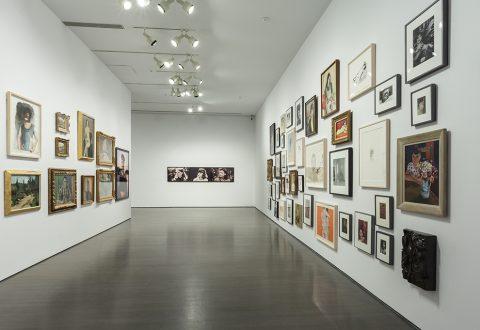 Vue de l'exposition L'Œil et l'Esprit. Point de vue de Geneviève Cadieux sur la Collection
