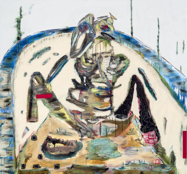 Manuel Mathieu, <i>Dans le bain</i>, 2014