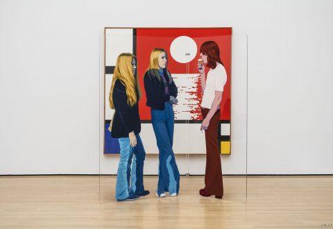 Edmund Alleyn, Mondrian au Coucher, 1973 – 1974