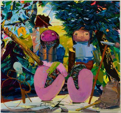 Dana Schutz, Breeders, 2002