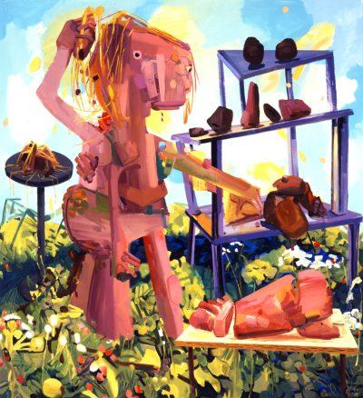 Dana Schutz, Twin Parts, 2004
