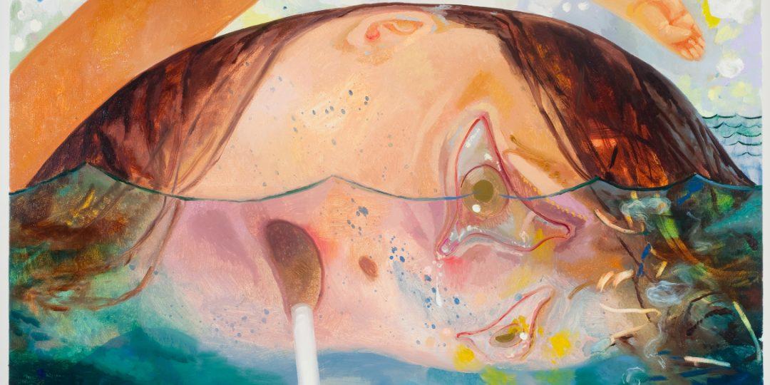 Dana Schutz, Swimming, Smoking, Crying, 2009