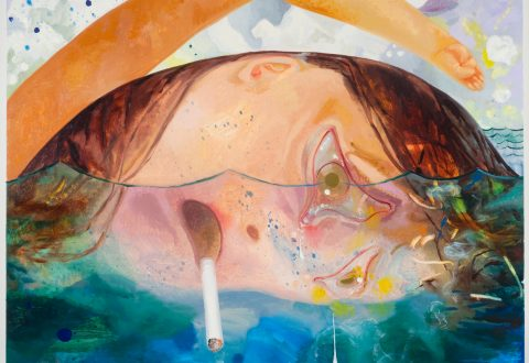 Dana Schutz, Swimming, Smoking, Crying, 2009