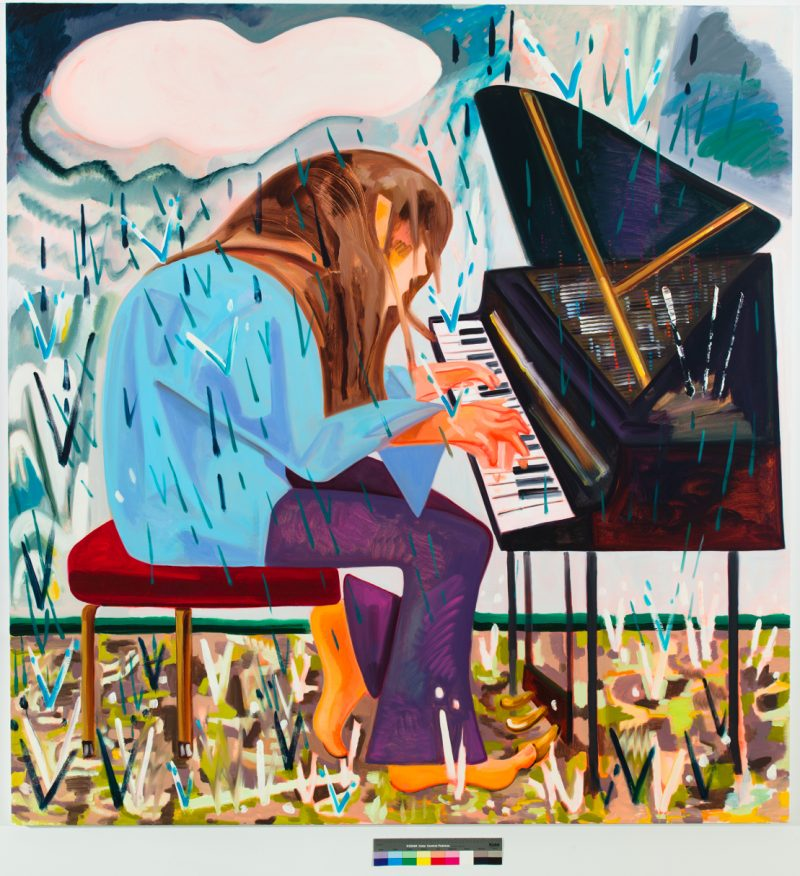 Dana Schutz, <i>Piano in the Rain</i>, 2012