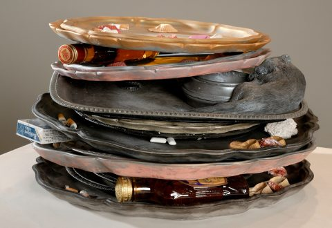 Liz Magor, Stack of Trays, 2008