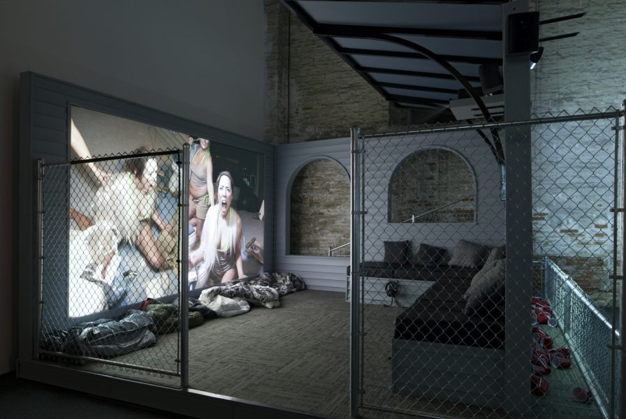 Lizzie Fitch and Ryan Trecartin, <i>Priority Innfield (Fence)</i>, 2013