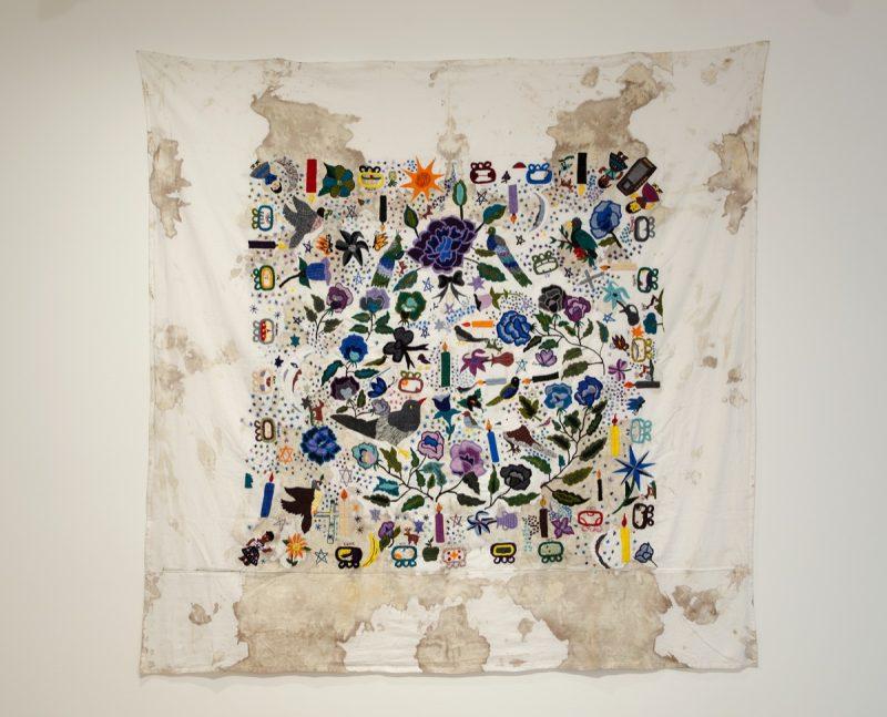 Teresa Margolles, Tela bordada [Tissu brodé], 2012