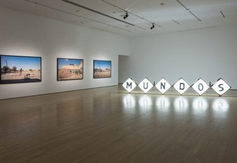 Vue de salle de l'exposition Teresa Margolles : Mundos