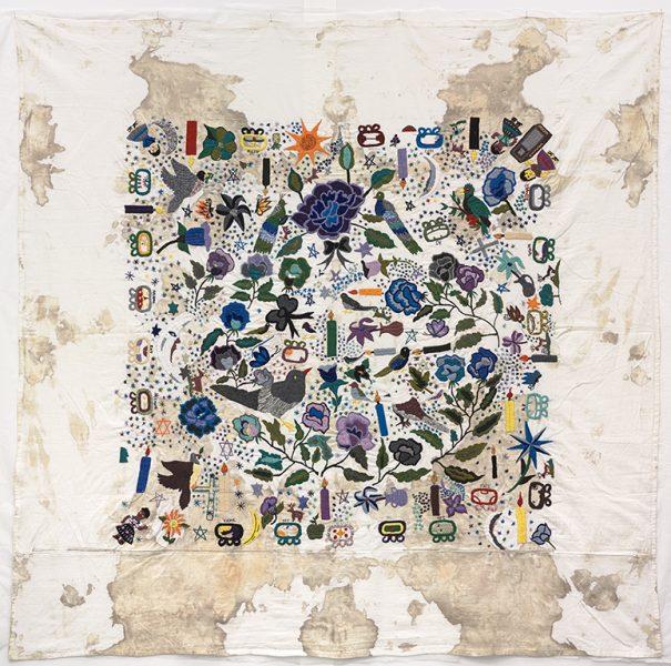 Teresa Margolles, <i>Tela bordada</i> [Embroidered fabric], 2012
