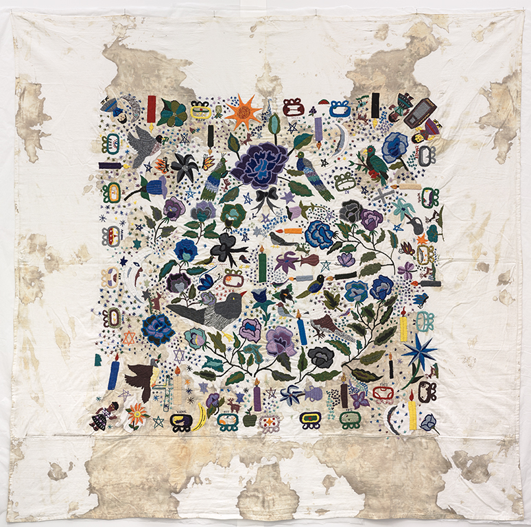 Teresa Margolles, Tela bordada [Embroidered fabric], 2012