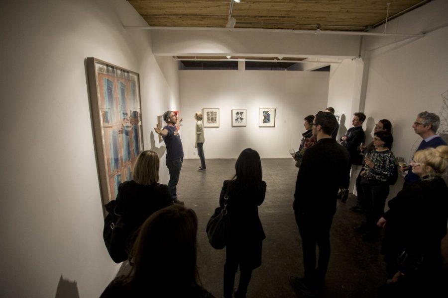 Visite de la galerie Art Mûr en compagnie de l'artiste Jean-Robert Drouillard
