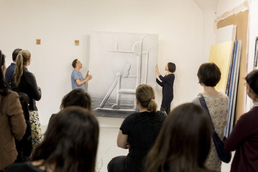 Visite de l'atelier de l'artiste Anthony Burnham