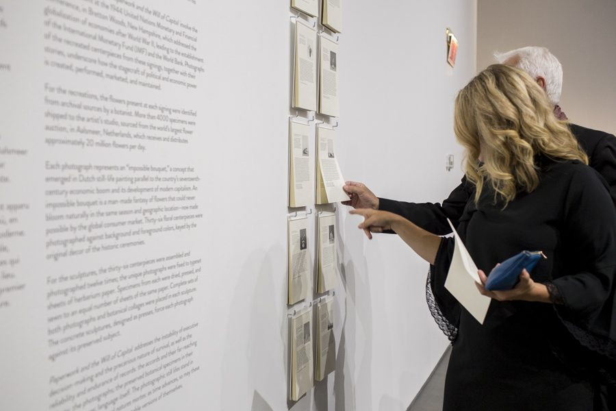 Opening of the Taryn Simon: Paperwork and the Will of Capital Exhibition at the MAC