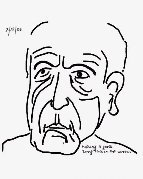Leonard Cohen, Self-portrait, 2003