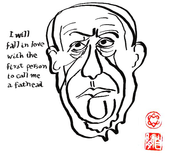 Leonard Cohen, Self-portrait, 2004