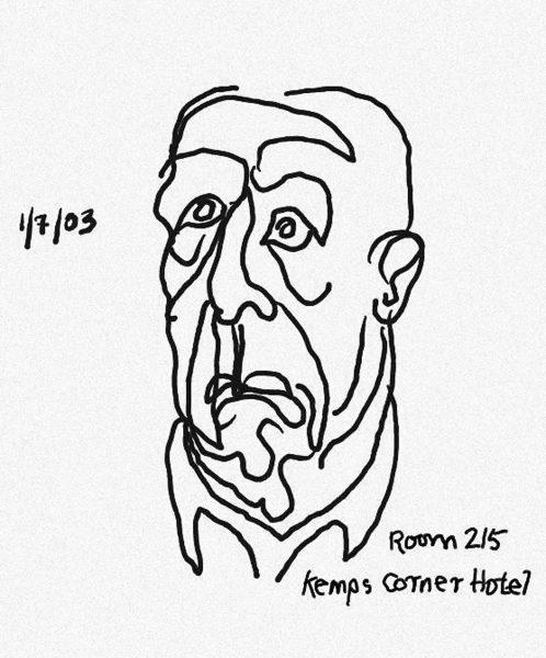 Leonard Cohen, Autoportrait, 2003