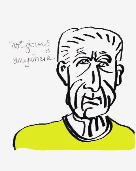 Leonard Cohen, Self-portrait, 2003