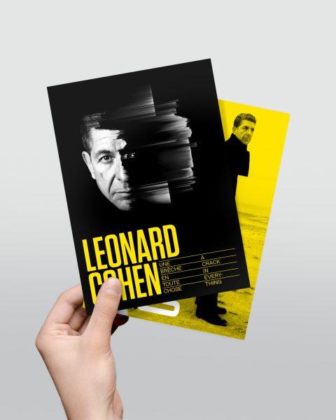Cartes postales, exposition Leonard Cohen (2,00 $)