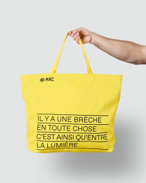 Yellow bag, Leonard Cohen exhibition ($21.99)