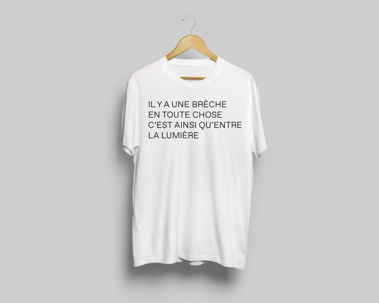 White t-shirt, Leonard Cohen exhibition ($24.99)