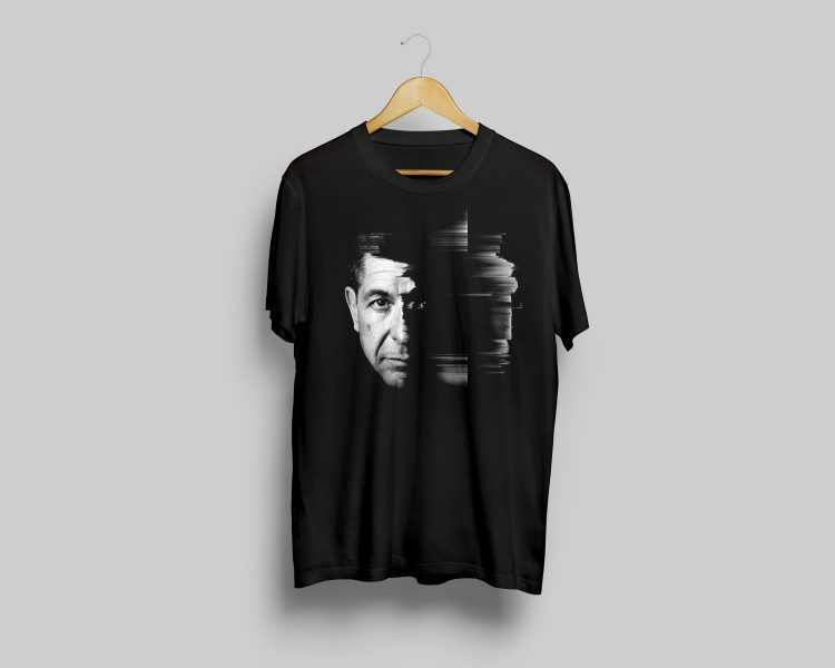 Black t-shirt, Leonard Cohen exhibition ($24.99)