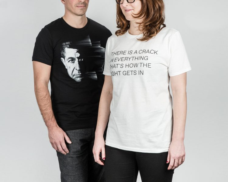 T-shirts, Leonard Cohen exhibition ($24.99)