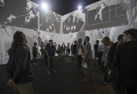 Rafael Lozano-Hemmer (in collaboration with Krzysztof Wodiczko), <i>Zoom Pavilion</i>, 2015