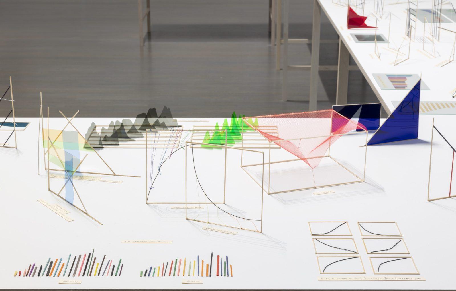 Richard Ibghy and Marilou Lemmens, The Prophets, 2013-2015 Installation  view, Musée d'art contemporain de Montréal, 2018 412 elements. Assorted  materials.