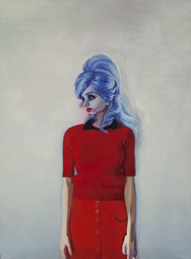 Ses cheveux bleus, turbulents