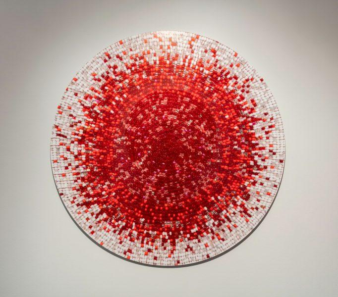 Nadia Myre , Meditations on Red # 2, 2013