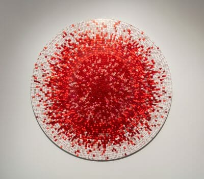 Nadia Myre, Meditations on Red # 2, 2013