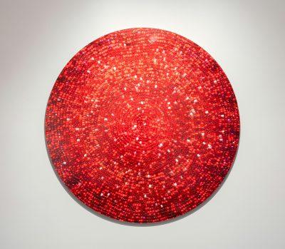 Nadia Myre, Meditations on Red # 3, 2013