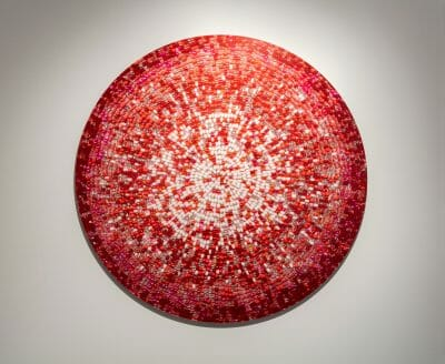 Nadia Myre, Meditations on Red # 4, 2013