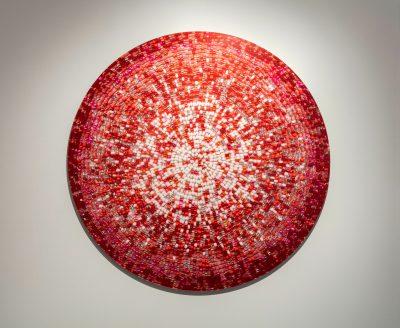 Nadia Myre, Meditations on Red # 4, 2013
