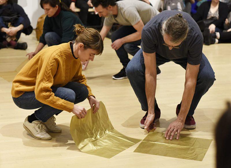 Catherine Lavoie-Marcus, La Canopée, 2019. Documentation de la performance présentée au Musée d'art contemporain de Montréal dans le cadre de l'exposition Françoise Sullivan.