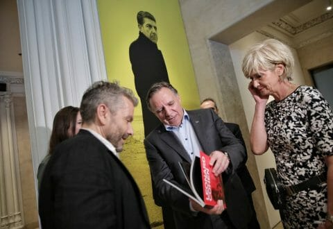 Premier François Legault at the Jewish Museum in New York