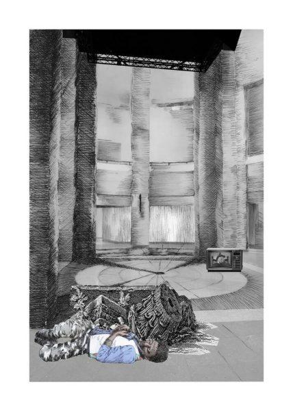 Gisele Amantea, Faux Site, Museum (migrant), 2017