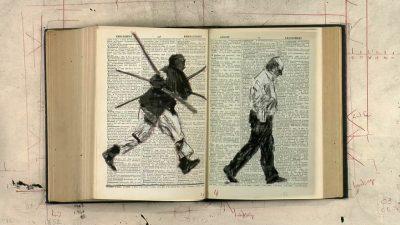 William Kentridge, Second-hand Reading (image tirée de la vidéo), 2013