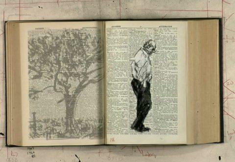 William Kentridge, Second-hand Reading (video still), 2013