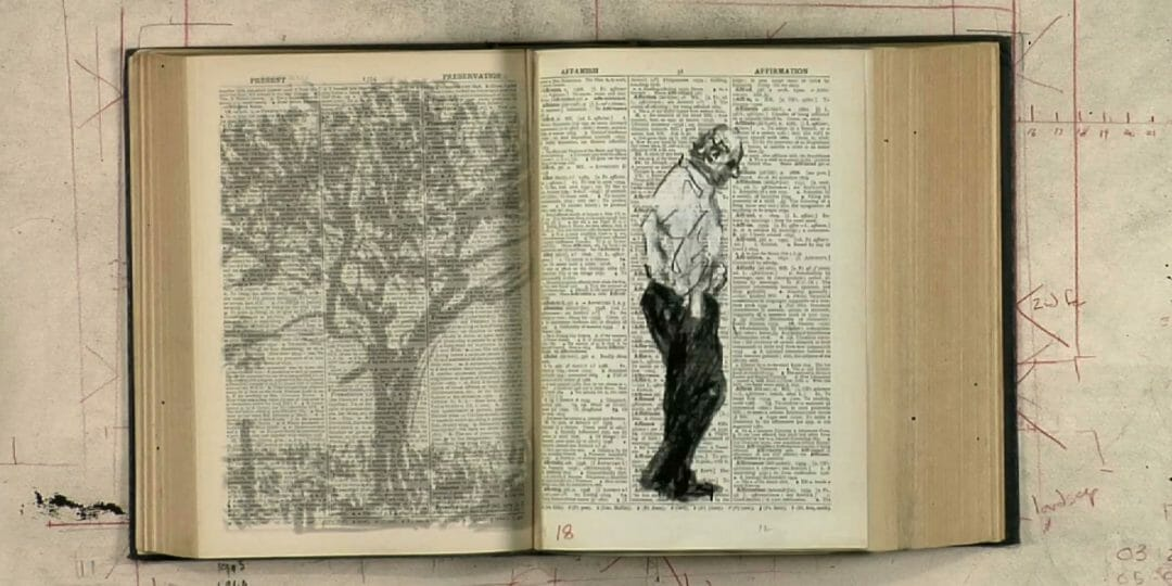 William Kentridge, Second-hand Reading (image tirée de la vidéo), 2013