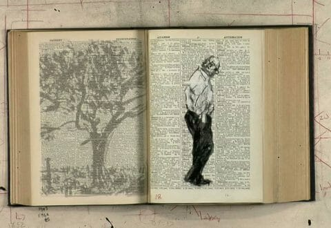 William Kentridge, <i>Second-hand Reading</i> (image tirée de la vidéo), 2013