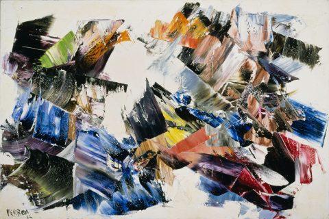 Ghost Hills, 1962, Marcelle Ferron, Huile sur toile.