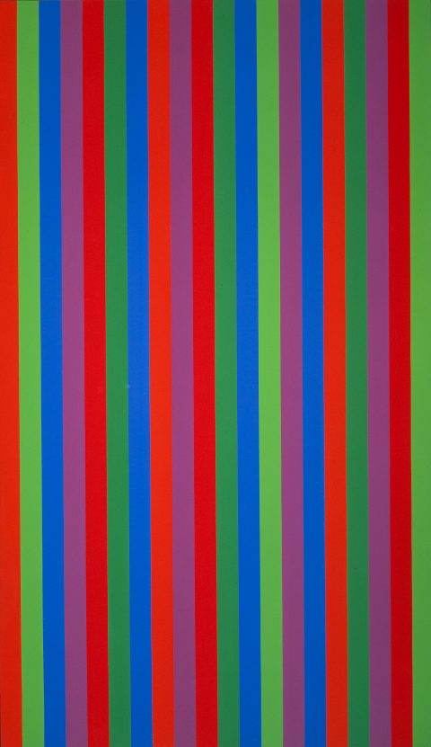 Mutation Quadri-violet, 1966, Acrylic on canvas.