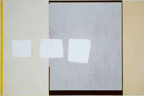 Sono, 1963, Yves Gaucher, Impression en relief sur papiers japonais laminés sur papier vélin, 27/30.