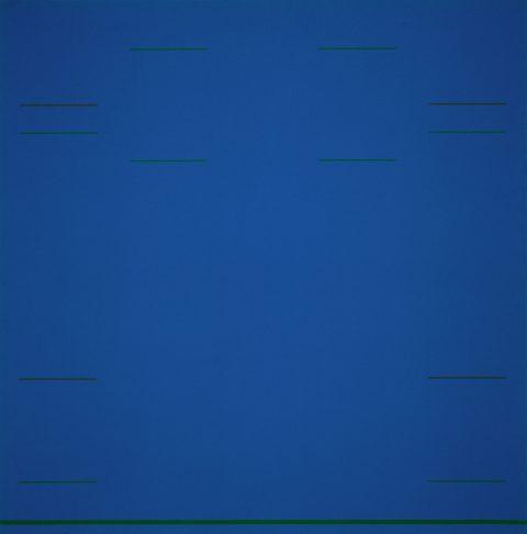 Blue Raga, 1967, Yves Gaucher, Acrylique sur toile.