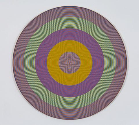 Gong 64, 1966, Claude Tousignant, Acrylique sur toile.
